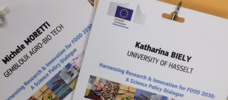 badge and folder of the conference